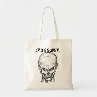 Skull face budget tote bag