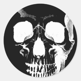 Skull Face Classic Round Sticker
