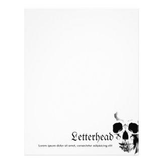 Skull Face Letterhead
