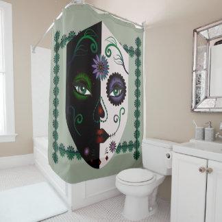 Skull Face Shower Curtain - Mask Skull Home Decor
