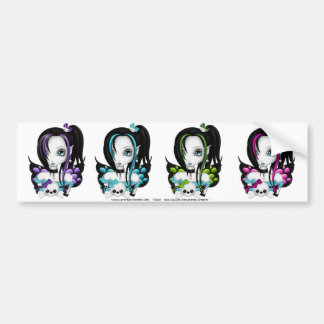 Skull Faery Sticker Sheet1 Car Bumper Sticker