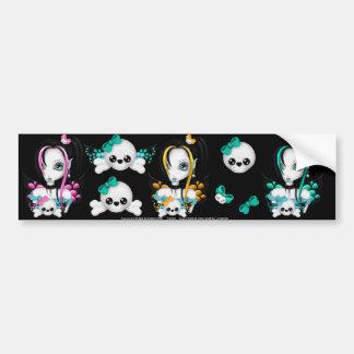 Skull Faery sticker sheet 6 Bumper Sticker