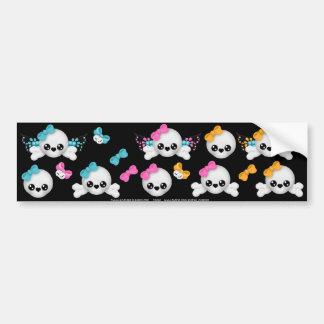 Skull Faery sticker sheet 8 Bumper Sticker
