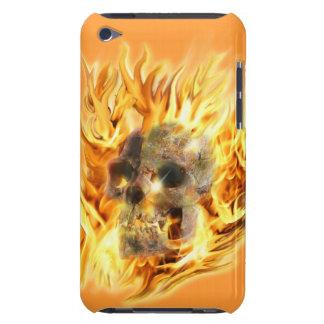 Skull & Fiery Flames iPod Case-Mate Case