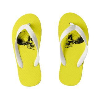 Skull Flip Flop Sandals Kid,Yellow