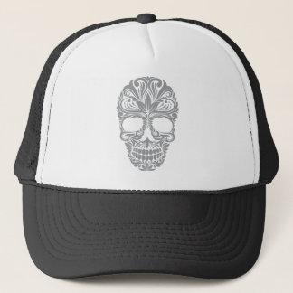 skull Floral Trucker Hat