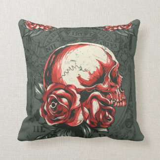 Skull flower pillow