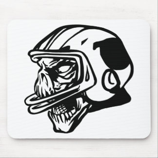 Skull Football Player Mouse Pad