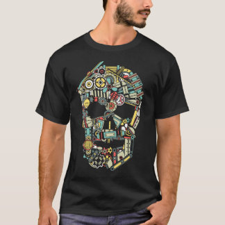 Skull from machinery parts T-Shirt