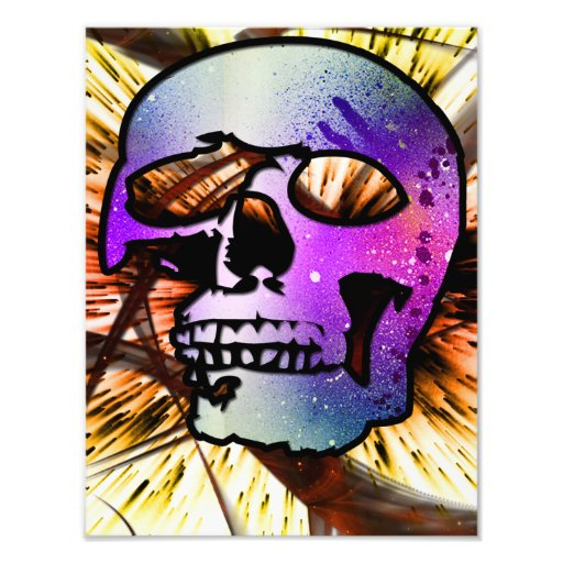 Skull from space photographic print