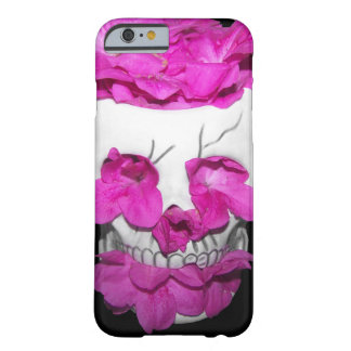 Skull Full of Pink Flowers Barely There iPhone 6 Case