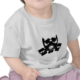 skull-gas-mask-bones tee shirt