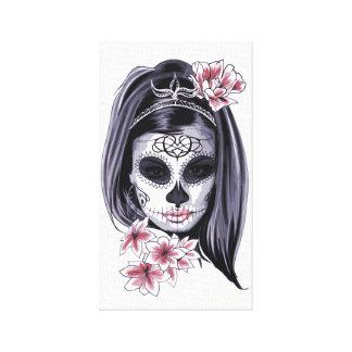 Skull girl design canvas print
