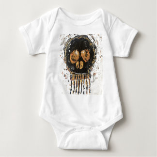 Skull Gold Mine Baby Bodysuit