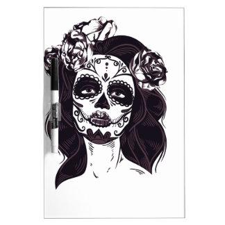 Skull Gothic Dry Erase Board