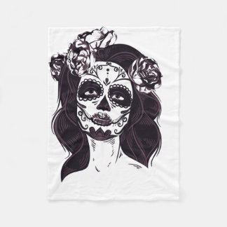 Skull Gothic Fleece Blanket