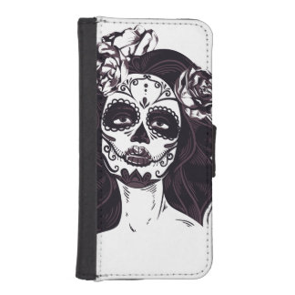 Skull Gothic iPhone SE/5/5s Wallet Case