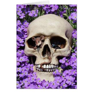 Skull - Gothic/map Card