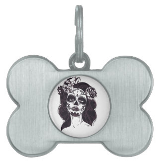Skull Gothic Pet Tags
