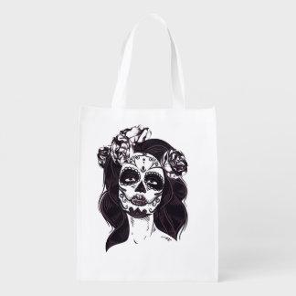 Skull Gothic Reusable Grocery Bag