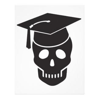 skull graduated from school letterhead