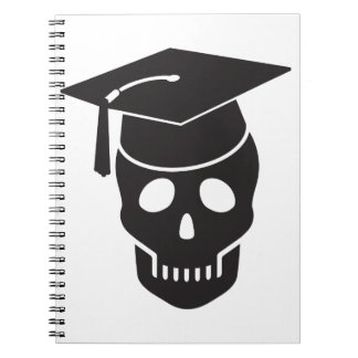 skull graduated from school notebooks