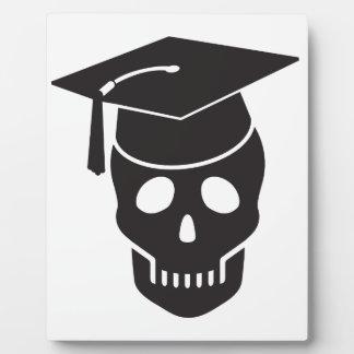skull graduated from school plaque