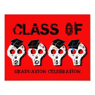 Skull Graduation Class of 2011 Invitation 4
