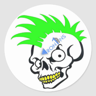 Skull Green Stickers