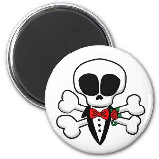 Skull Groom Fully Customizable 2 Inch Round Magnet