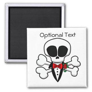 Skull Groom Fully Customizable Square Magnet