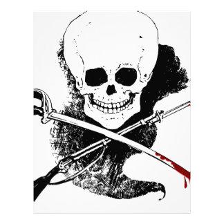 Skull Gun Sword and Blood Custom Letterhead