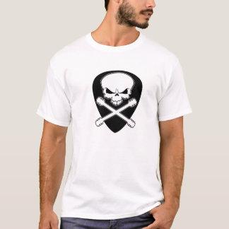 Skull Half Pick Crossbones T-Shirt