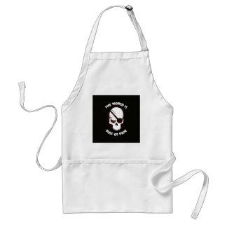 Skull Halloween Dark Black Scary Standard Apron