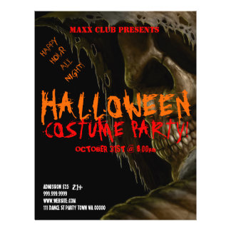 Skull Halloween Party Event Announcement Flyer