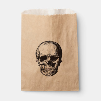 Skull halloween party favour bag