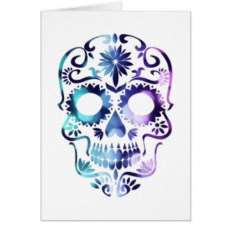 Skull Halloween Symbol Card