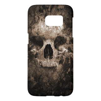 skull head abstract art samsung galaxy s7 case
