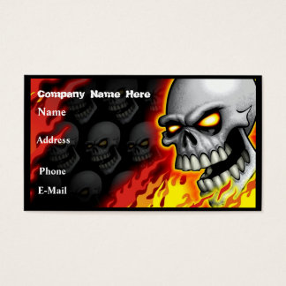 Skull Head Business Card Customizable