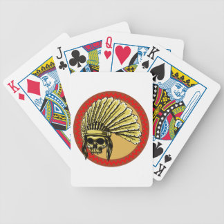 Skull head Indian skull native American Bicycle Playing Cards