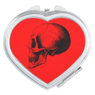 Skull Heart Compact Mirror