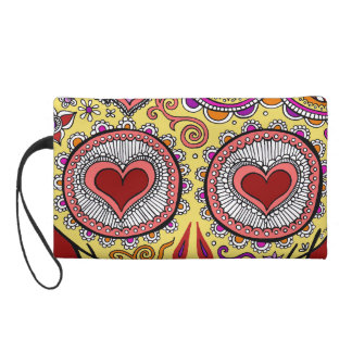 Skull Heart Eyes Bag - Clutch Cosmetic Accessory