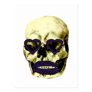 Skull Hearts Purple Kiss The MUSEUM Zazzle Gifts Postcard