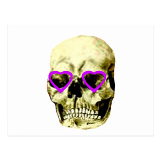 Skull Hearts Purple The MUSEUM Zazzle Gifts Post Cards