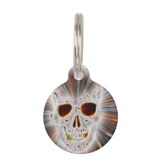 Skull Horror Gothic Pet Name Tag