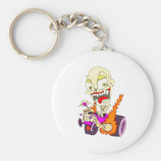 Skull Hot Rod Keychain