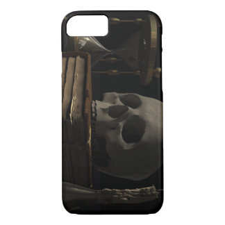 Skull hourglass candle and book iPhone 7 case
