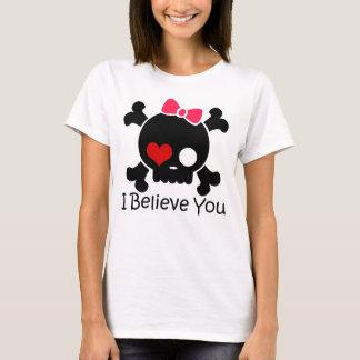 Skull I Believe You Couple Women's Basic T-Shirt