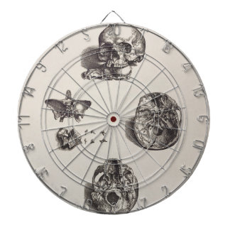 Skull - Icones Anatomicae Dartboard With Darts
