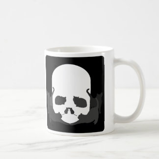 "SKULL ILLUSION ""Cats and mice"" Coffee Mug"